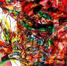Pigmento mineral sobre canvas