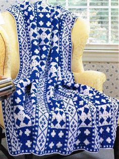 Dutch Tile Afghan Crochet Patterns Blanket Throw Instructions