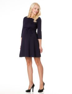 Long Sleeve Empire Waist Maternity Dress - perfect for work or evening and super comfortable