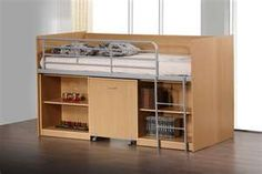 Image detail for -MIDI SLEEPER WOODEN KIDS CABIN BED WITH STORAGE AND DESK