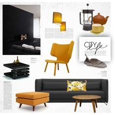 City House in Fall by magdafunk on Polyvore featuring interior, interiors, interior design, дом, home decor, interior decorating, Softline, Thrive, Nevvvorks and Schmitt Design