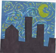 Van Gogh Starry Night - lesson plan for 1st grade