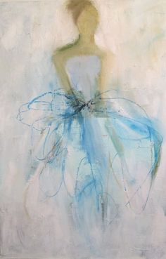 Holly Irwin #Artist #painter #arthritis #pastels #feminine #romantic #blue #fashion