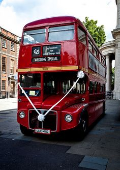 A London Bus as #wedding #transport is a unique and fun idea! Particularly appropriate for NRIs (who may be more likely to have access) and if you are from the groom's side of the family (to bring along the merry baraatis)! #indian