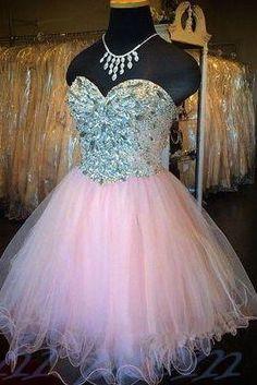 Pearl Pink Homecoming Dress