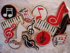 Music set - sugar cookies