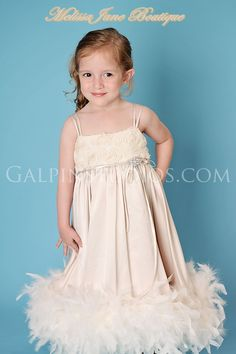 Luxious Satin Rosette Flower Girl Dress. $138.00, via Etsy.