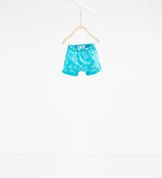 Image 1 of Palm tree print Bermuda shorts from Zara