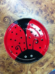 Cute ladybug plate!