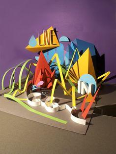 Live In Color — Papercraft sculpture Illustration 3d Art Projects, School Art Projects, Sculpture Lessons, Sculpture Art, Shape Art, Art Lessons Elementary, Art Classroom, Art Club, Art Plastique