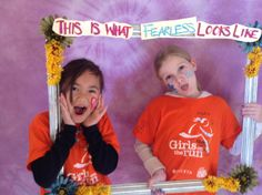 Photo opportunity at our 5k where the girls get to choose the word they feel.