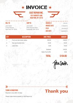 Invoice Template Us Military Orange Invoice Layout, Invoice Example, Invoice Format, Invoice Design, Free Receipt Template, Bill Template, Notes Template, Printable Invoice, Invoice Template Word