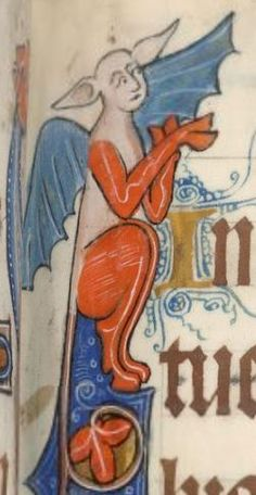 Detail from The Luttrell Psalter, British Library Add MS 42130 (medieval manuscript,1325-1340), f69r
