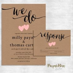 Milly Rustic Wedding Invitation