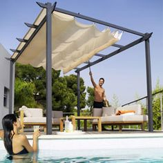 diy simple retractable shade cloth use a wire cable set place grommets where you want the. Black Bedroom Furniture Sets. Home Design Ideas