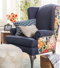 How To Reupholster A Wing Chair (With images) Reupholster Furniture, Upholstered Furniture, Funky Furniture, Furniture Makeover, Chair Fabric, Chair Cushions, Swivel Chair, Poltrona Bergere, Wing Chair