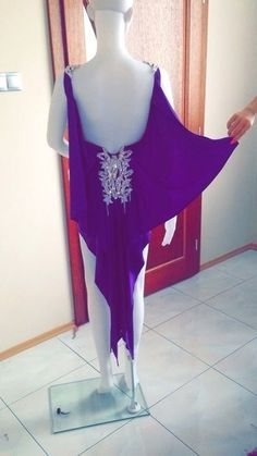 Latin dance dress violet