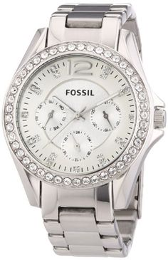 Fossil Damen-Armbanduhr Analog Quarz Edelstahl ES3202