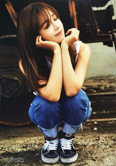 seven springs of apink ♡ Kpop Girl Groups, Korean Girl Groups, Kpop Girls, The Most Beautiful Girl, Beautiful Person, Beautiful People, Eunji Apink, Pink Panda, Eun Ji