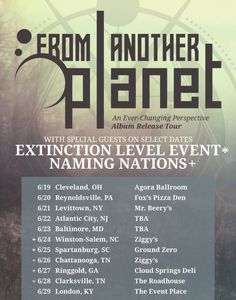 Progressive metallers From Another Planet announces 'An Ever Changing Perspective' and tour dates