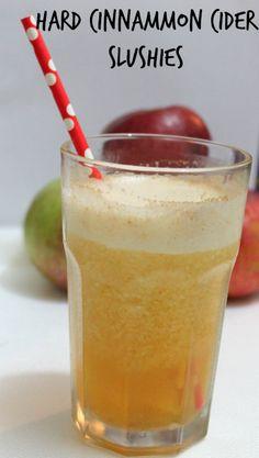 Hard Cinnamon Cider Slushies - Hard Cider, Fireball, Ice, Cinnamon