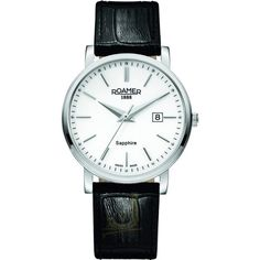 addae233d79 Gents Watch Featuring round shape stainless steel Case Silver dial with  date, Black Leather Strap