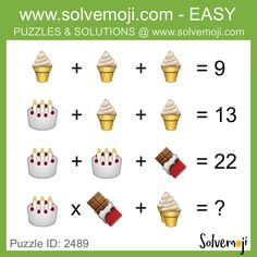 Emoji math puzzles, can you solve it? Math Puzzles Brain Teasers, Maths Puzzles, Maths Starters, Funny Mind Tricks, Math Challenge, Order Of Operations, Primary Maths, Free Teaching Resources, Picture Puzzles