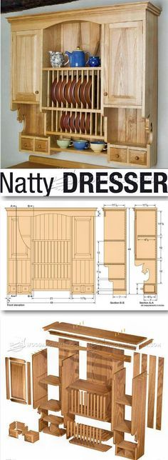 Kitchen Wall Hung Dresser Plans - Furniture Plans and Projects | http://WoodArchivist.com
