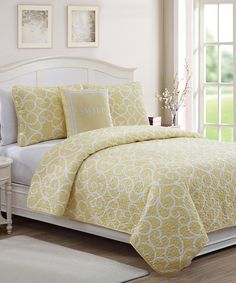 Love this Yellow 'Sweet' Quilt Set on #zulily! #zulilyfinds