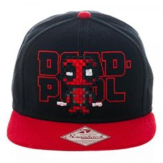 ef312971073 Mercs everywhere will dig this red-and-black Marvel Deadpool Pixel Snapback  cap