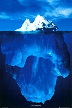 Newfoundland, Canada - Iceberg below water view
