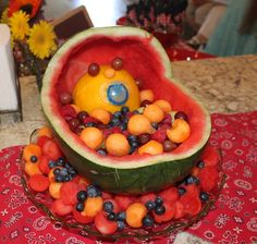 How fun! #babyshower #fruit