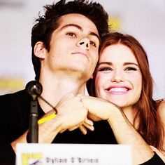 Dylan O'Brien and Holland Roden they're so cute!