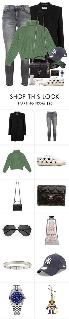 """Halsey-Inspired #377"" by halseys-clothes ❤ liked on Polyvore featuring Yves Saint Laurent, Current/Elliott, Chanel, Cartier, Rolex, Prada, halsey, ashleyfrangipane, halseymusic and halseyinspired"