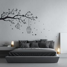 Removable Tree Branch Wall Sticker Design **Leave a note to seller at checkout explaining which direction you want the brance to go otherwise it will be come as displayed in the first image** FIXATE DESIGNS Every one of our wall decals is handmade by me using the best materials to bring you the best. All orders come with a coupon code which will be emailed to you, along with a free practice decal and instructions. All our wall decals are made from a matte vinyl material which looks as if…