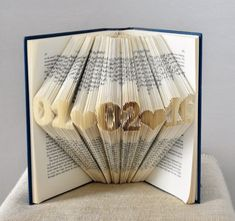 This beautiful, handmade folded book art sculpture displays a custom date with a choice of hearts or dashes. It is perfect as a Anniversary Gift, Wedding Gift or Birthday Gift – especially if they are a book lover or avid reader! It looks captivating displayed on a shelf, literally