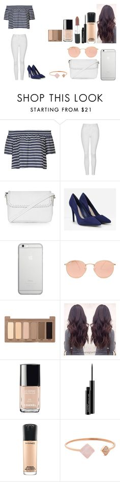 """Untitled #481"" by kalieh092 on Polyvore featuring Topshop, CHARLES & KEITH, Native Union, Ray-Ban, Urban Decay, Chanel, MAC Cosmetics and Michael Kors"