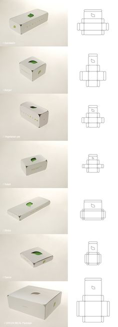 LEAF / Vegetarian fast food / Green meal package by Stefan Knežević, via Behance