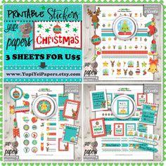 Christmas Stickers, Planner Stickers, Kawaii Stickers, Cute Stickers, Christmas Planner, Planner Accessories, Christmas Time, Erin Condren
