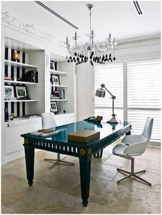 bring pops of #color into a #blackandwhite room for a modern and chic look