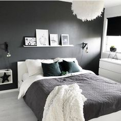 Bedroom Design Ideas Budget Grey And White Bedroom Ideas 2020 # White Bedroom, Home, Bedroom Makeover, Home Bedroom, Awesome Bedrooms, Apartment Decor, Minimalist Bedroom, Modern Bedroom, Modern Bedroom Decor