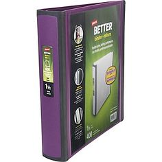 College American Literature and Diversity (1st Period, 1st Semester) Staples Better 1.5-Inch D 3-Ring View Binder, Plum (22164-US)   Staples