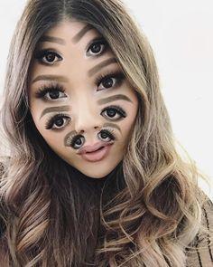 Une nouvelle sélection des maquillages surréalistes de Mimi Choi, cette artiste canadienne qui s'amuse à décomposer, briser ou découper son visage av
