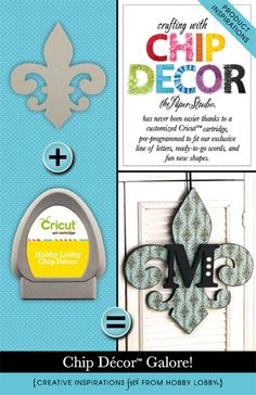 Hobby Lobby Project - Crafting with Chip Decor - Chip Decor, Cricut, Chip Letters, Chip Shapes, Embellish