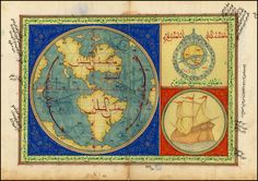 Turkish map of the Americas