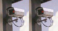 2 Outdoor Dummy Security Cameras w/ LED Lights - Fake CCTV Surveillance Cameras by UniquExceptional. $49.00. Outdoor safe real looking security cameras.  LED flashing light really gets their attention and makes thieves think they are being watched so they will go find an easier target.  Fashioned from a real outdoor closed circuit TV camera.  Includes mounting hardware and dummy coax cables.. Save 49%!
