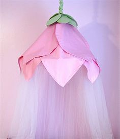 Step by step sewing tutorial for this rose petal canopy