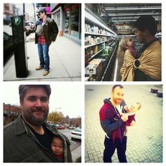 Babywearing dads are the cutest!