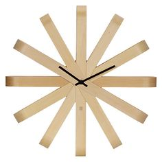Buy Umbra Ribbon Wood Wall Clock Online At Johnlewis Living Room
