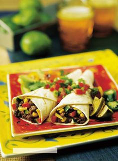 Vegetarian Texas Tacos ~ Bridge Rest of the Best and Vegetarian Tacos, Vegetarian Recipes, Texas Taco, Entree Dishes, Green Salsa, Mexican Food Recipes, Ethnic Recipes, Tex Mex, Chickpeas